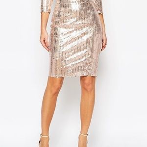 💜SALE💜 Tnfc Blush Sequin Pencil Skirt